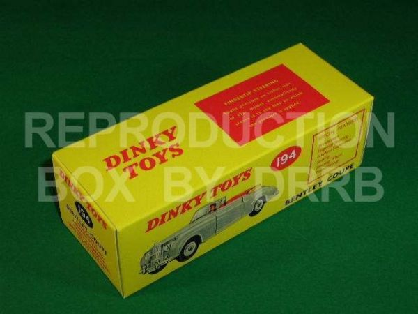 Dinky #194 Bentley Coupe (S Series) – Reproduction Box
